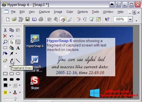 Ekrānuzņēmums HyperSnap Windows 8