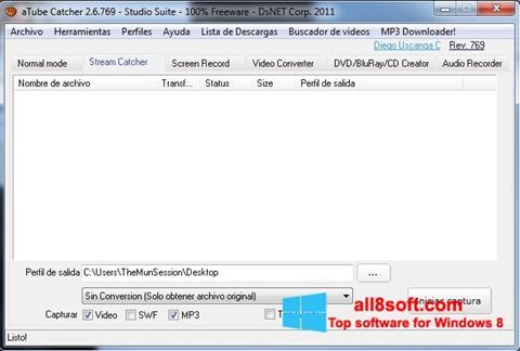 Ekrānuzņēmums aTube Catcher Windows 8