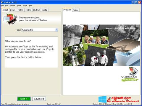 Ekrānuzņēmums VueScan Windows 8