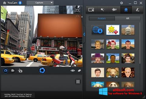 Ekrānuzņēmums CyberLink YouCam Windows 8