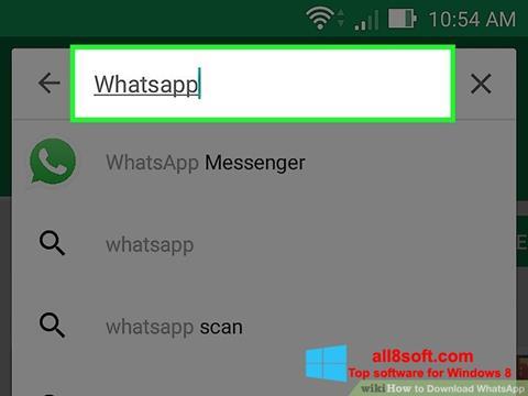 Ekrānuzņēmums WhatsApp Windows 8
