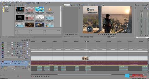 Ekrānuzņēmums Sony Vegas Pro Windows 8