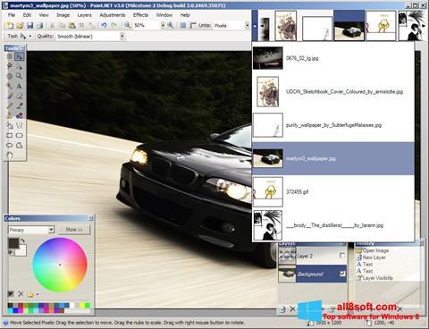 Ekrānuzņēmums Paint.NET Windows 8