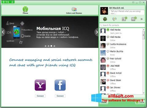 Ekrānuzņēmums ICQ Windows 8