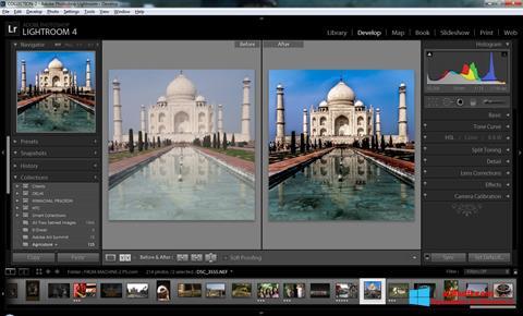 Ekrānuzņēmums Adobe Photoshop Lightroom Windows 8