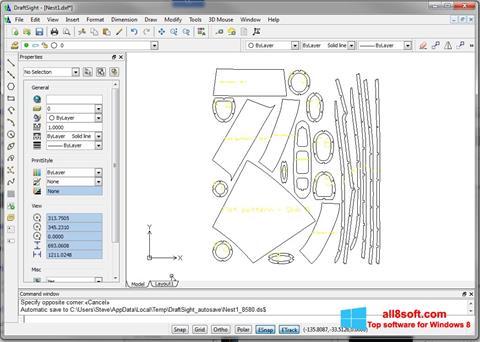 Ekrānuzņēmums DraftSight Windows 8