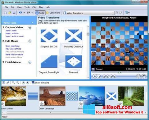 Ekrānuzņēmums Windows Movie Maker Windows 8