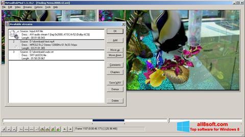 Ekrānuzņēmums VirtualDubMod Windows 8