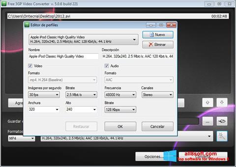 Ekrānuzņēmums Free MP4 Video Converter Windows 8