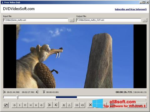Ekrānuzņēmums Free Video Dub Windows 8