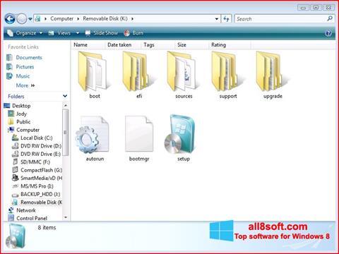 Ekrānuzņēmums Windows 7 USB DVD Download Tool Windows 8