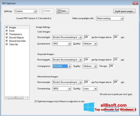 Ekrānuzņēmums Adobe Acrobat Pro DC Windows 8