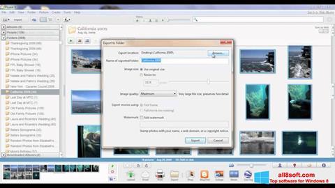 Ekrānuzņēmums Picasa Windows 8