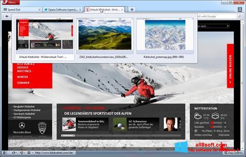 Ekrānuzņēmums Opera Windows 8