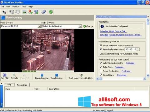 Ekrānuzņēmums WebCam Monitor Windows 8