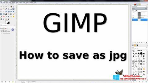 Ekrānuzņēmums GIMP Windows 8