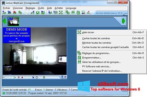 Ekrānuzņēmums Active WebCam Windows 8