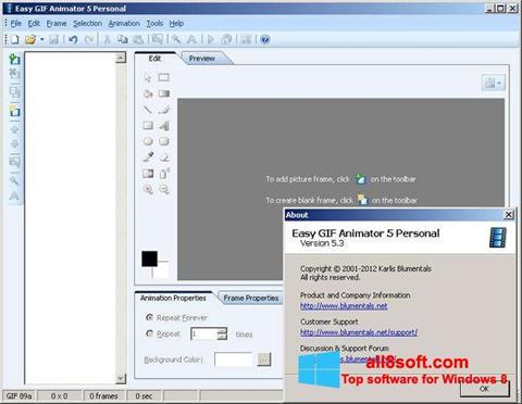 Ekrānuzņēmums Easy GIF Animator Windows 8