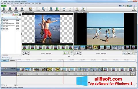 Ekrānuzņēmums VideoPad Video Editor Windows 8