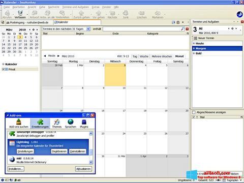 Ekrānuzņēmums SeaMonkey Windows 8