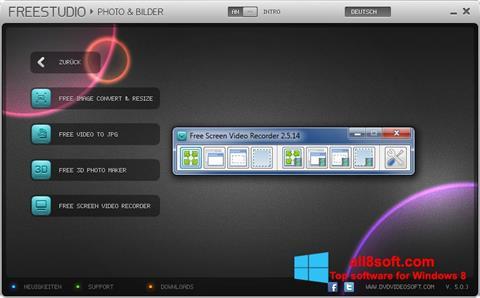 Ekrānuzņēmums Free Studio Windows 8