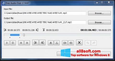 Ekrānuzņēmums Free Audio Dub Windows 8