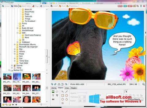 Ekrānuzņēmums PhotoScape Windows 8