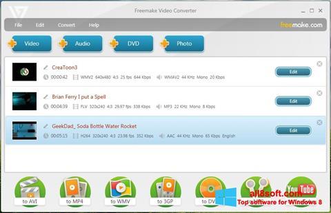 Ekrānuzņēmums Freemake Video Converter Windows 8