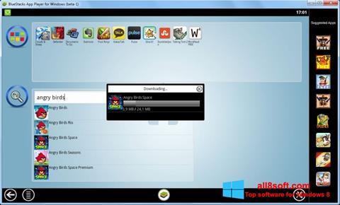 Ekrānuzņēmums BlueStacks Windows 8