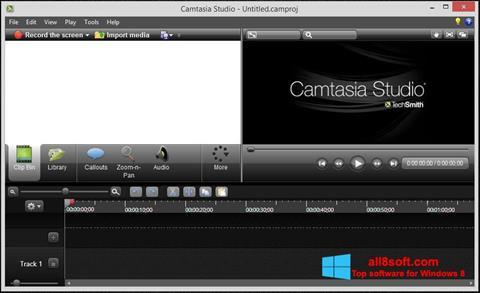 Ekrānuzņēmums Camtasia Studio Windows 8
