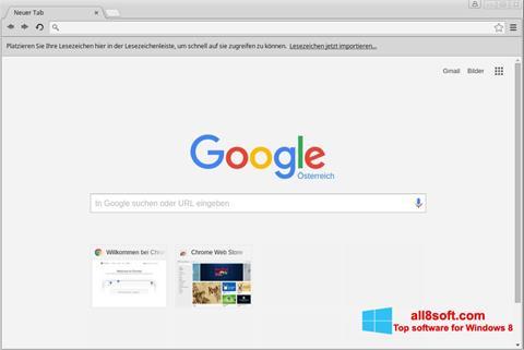 Ekrānuzņēmums Google Chrome Windows 8