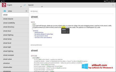 Ekrānuzņēmums ABBYY Lingvo Windows 8