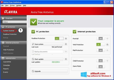 Ekrānuzņēmums Avira Windows 8