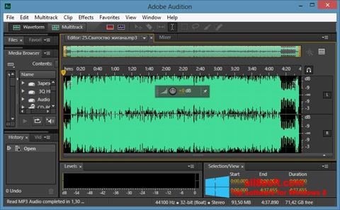 Ekrānuzņēmums Adobe Audition CC Windows 8