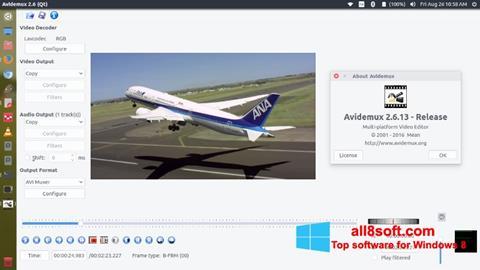 Ekrānuzņēmums Avidemux Windows 8